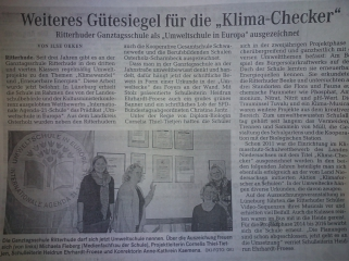 Gütesiegel 'Klima Checker